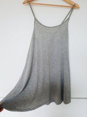 Strandkleid grau Kleid kurz weit oversized Kreuzträger