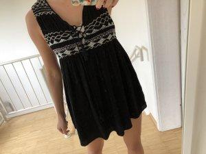 Babydoll Dress black-white