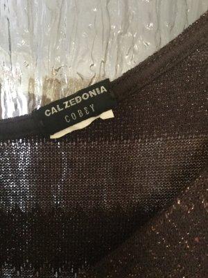 Robe longue brun foncé-brun sable fibre synthétique