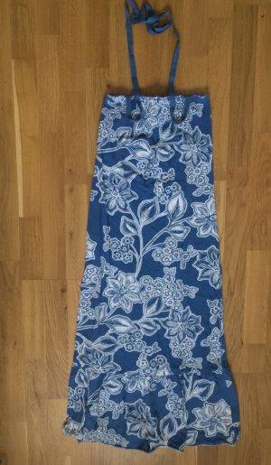 Strandkleid, Neckholder, blau, H&M, Beach, Maxikleid, S