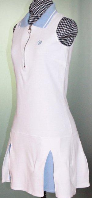 Strandkleid Polokleid weiß-blau Gr. S