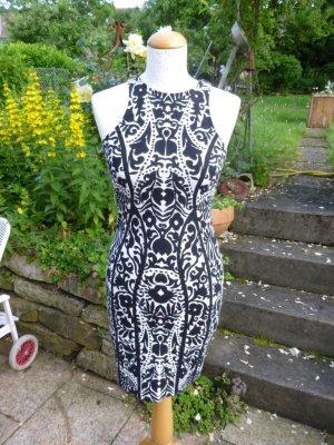 H&M Stretch jurk zwart-wit