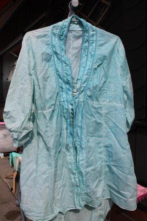 Blusa larga turquesa Algodón