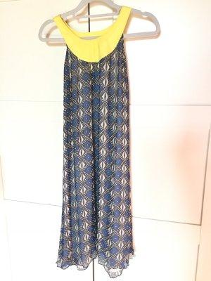 Pepe Vestito da spiaggia giallo pallido-blu Seta