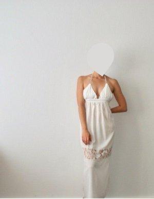 Strandkleid/weißes Maxikleid mit Spitze S/M