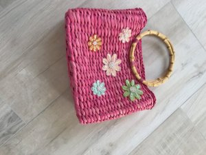 no name Basket Bag magenta wood