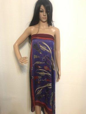 Strandkleding neongeel-blauw-paars Zijde