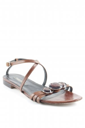 Beach Sandals brown-cognac-coloured beach look