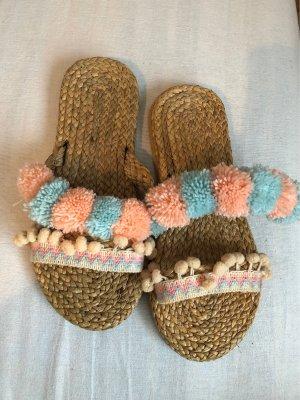 Beach Sandals light pink-baby blue