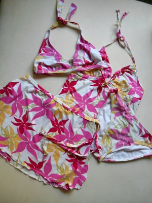Strandset Neckholder Tankini Bikini Bikinihose Wickelrock Strandrock