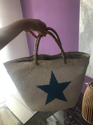 Basket Bag white-blue