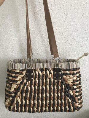 Strandtasche / Strandkorb / Sommertasche geflochten