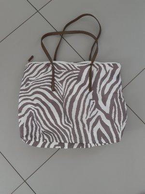 Benetton Handbag white-silver-colored