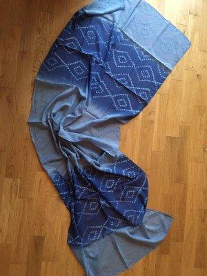 Tchibo / TCM Beach Towel neon blue-white