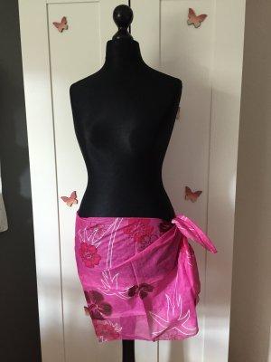 Strandtuch Pink mit Print
