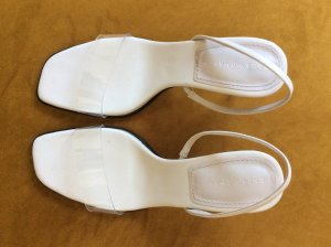 Zara Strapped Sandals natural white leather