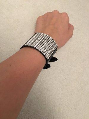 Leather Bracelet black-silver-colored