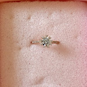 Strass-Ring Sonne Blume in rosegold