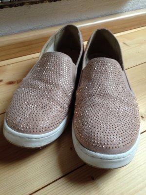 Strass Sneaker Gold Beige