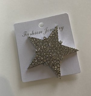 Broche color plata-gris claro