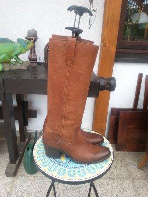 Strategia Jackboots cognac-coloured leather