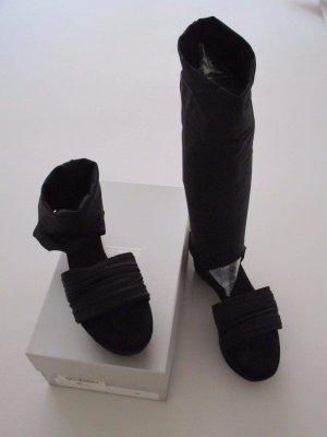 Strategia Plateau Sandalette/Stiefel 40 black Lycra + Leder NEU
