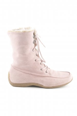 Strauss Lace-up Boots dusky pink casual look