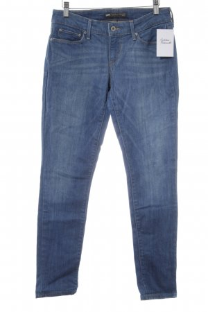 Strauss Skinny Jeans blassgrün-blau Jeans-Optik