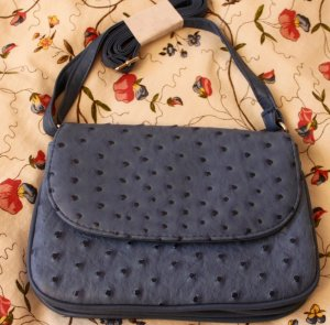 Mini Bag steel blue imitation leather