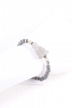 strawberry and cream Bracelet grey-light grey casual look