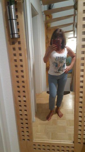 Pantalon bleu pâle-bleu azur