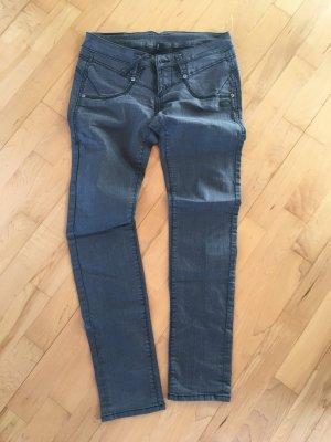 Gang Jeans taille basse noir-gris foncé