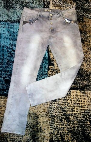 Stretch Jeans light grey-grey