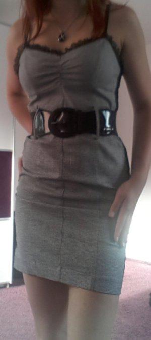 Strech-Kleid grau kariert