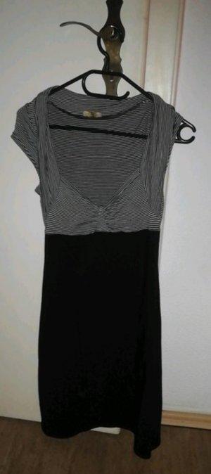 Laura Scott Vestido elástico negro-blanco puro