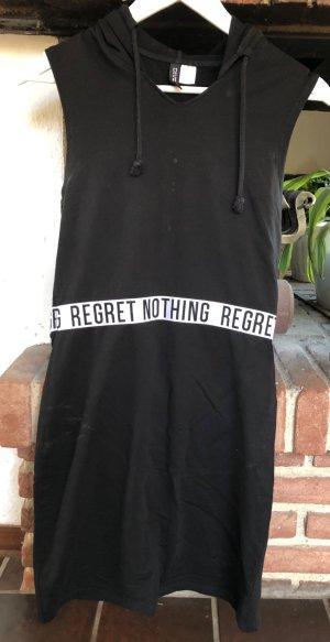H&M Hooded Dress black-white