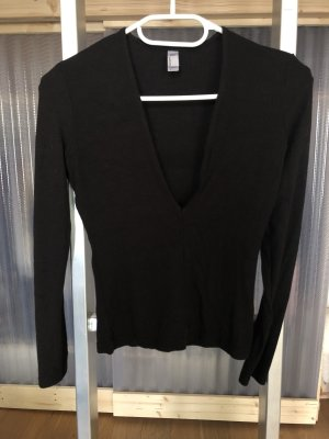 American Apparel Top cut-out nero