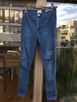 Strech-Skinny Jeans in blau