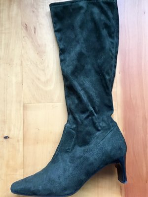 Bottes stretch gris anthracite-kaki