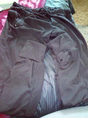 Stretch broek zwart Gemengd weefsel