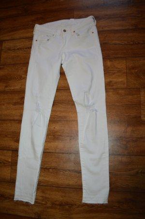 Strechige Skinny Jeans mit Cuts Gr. 38 von Denim