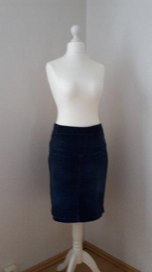 Strechiger Jeans-Bleistiftrock