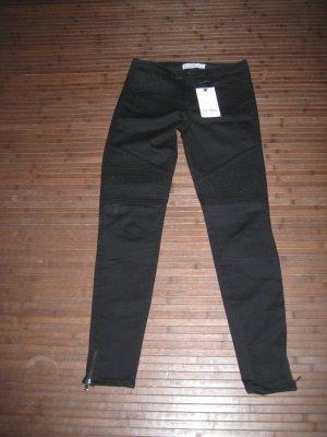 Zara Basic Jeans de moto noir