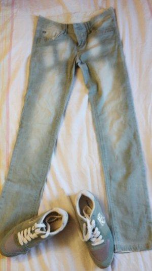 Tube jeans cadet blauw Katoen