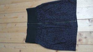 Strechminirock Leopardenmuster grau/schwarz Reißverschluss ***günstiges Porto***