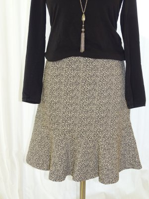 Esprit Minifalda blanco-negro Sintético