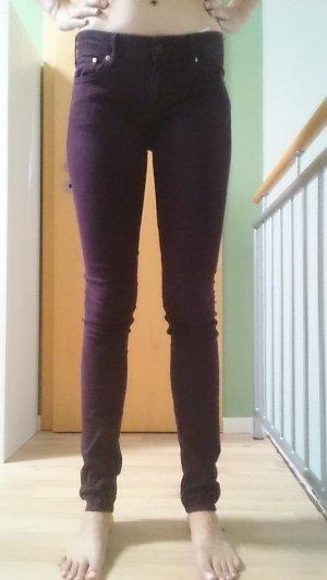 Strecht-Jeans, Weinrot, Gr. Skinny Low Waist 28/34/ von H&M