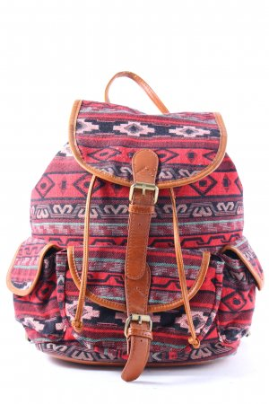 Street Level Rucksack Ikatmuster Hippie-Look