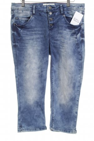 Street One 3/4 Jeans blau Batikmuster Street-Fashion-Look