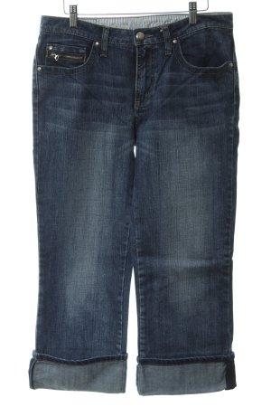 Street One 3/4 Jeans blau Used-Optik